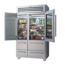 frosted glass door refrigerator for home