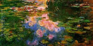 the water lily pond by reion oil painting monet claude print