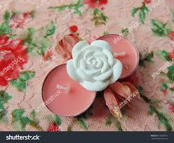 Rose Scented Tea Lights Pink Scented Tea Lights White Flower Stock Photo Edit Now