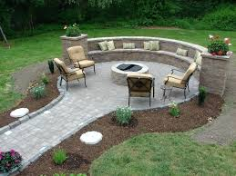 fire pit contemporary outdoor ideas