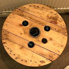 electric cable reel now a wine rack coffee table available for diy