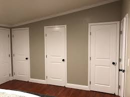 the realtor builder decided on this stupid closet configuration 3 doors you can walk into the door on the right close it then