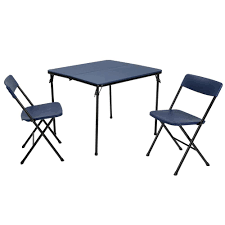 folding chairs and tables. Plain Folding Cosco 3Piece Dark Blue Folding Table And Chair Set To Chairs And Tables