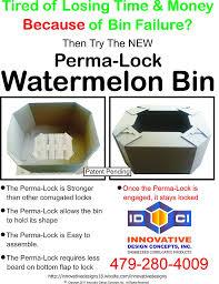 Perma Design Perma Lock Watermelon Bin Innovativedesigns