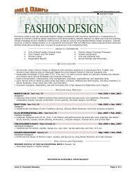 Fashion Design Resume