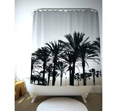 tree shower curtain palm black and white trees tropical bathroom decor bath decoration target of life