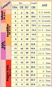Mexican Shoe Size Conversion Chart Child Antmonitor Me