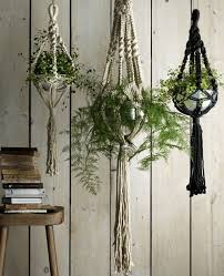 Hang planters individually for a simple style statement, or group them  together to create a focal point. Macram perfectly captures the 70s trend  and these ...
