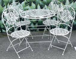 white wrought iron garden furniture. White Metal Garden Bench Antique Wrought Iron Patio Furniture Vintage Outdoor  Chairs Table Supe P