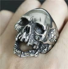 2017 mens walking evil skull ring 316l snless steel men boys silver cool man biker ring