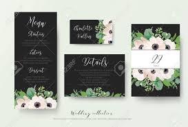 Table Number Design Wedding Menu Details Information Escort Place Card Table Number