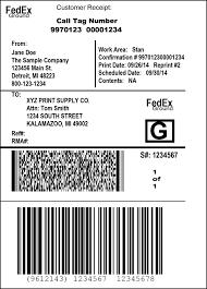 Printed Return Address Label Package Return Services Return Shipping Labels Fedex