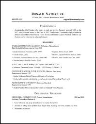 Samples Of Resume For Students Example Of Student Resume Example