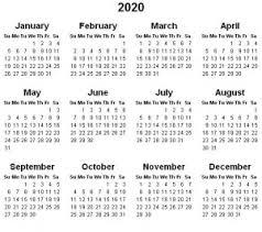 Printable Yearly Calendar 2020 Printable Hub