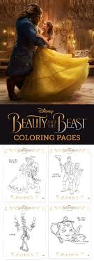 Small Picture Disney Beauty and the Beast Coloring Pages Craft Birthdays and