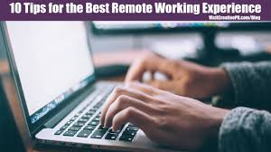 tips for successfully working remotely