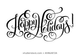 happy holidays black and white. Unique Holidays Black And White Happy Holidays Hand Lettering Inscription Christmas  Calligraphy Raster Version Illustration Throughout Black And White