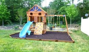stain easy diy backyard playset