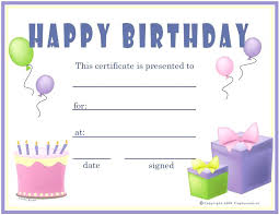Birthday Gift Certificate Template Free Printable Images Of Within ...
