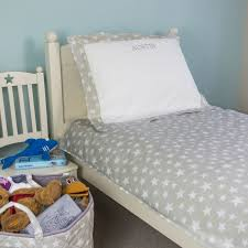 children s bedding set in our exclusive grey star fabric 200 thread count cotton percale