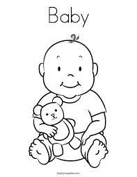 Small Picture Baby Coloring Page Twisty Noodle Baby Girl Colouring Pages