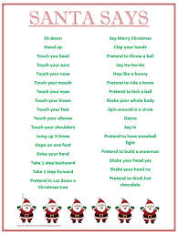 Santa Says Party Game | Featured with 29 Awesome Classroom Christmas Party  Ideas {OneCreativeMommy.