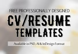 Professional Cv Free Download Free Cv Resume Psd Templates Freebies Graphic Design