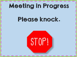 Quiet Please Meeting In Progress Sign Meeting In Progress Sign Printable Agenda Template For Successful