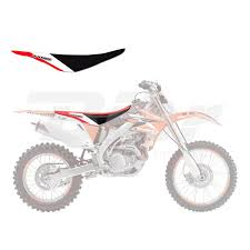 es motorcycle s bike equipment off road seats seat covers honda graphic seat cover crf 250 r 04 09 crf 250 450 x 04 14