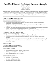 Do list your employment experience using the standard format. Dental Resume Examples Writing Tips Resume Companion