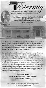 most pionate and professional services by eternity funeral home and crematory in jacksonville florida