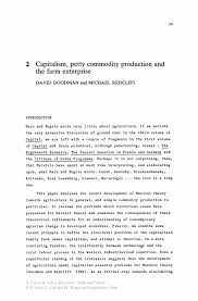 capitalism petty commodity production and the farm enterprise inside