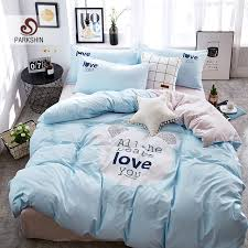 light blue duvet cover twin xl design parkshin bedding sets linen cotton forter duvet cover