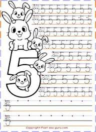 Small Picture Numbers tracing worksheets 6 for kindergarten Printable Coloring