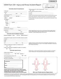 10 Printable Osha Incident Report Form Templates Fillable