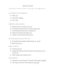 Resume For High School Resume Template Directory