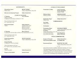 Catholic Wedding Mass Program Catholic Funeral Mass Program Rome Fontanacountryinn Com