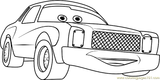Small Picture Darrell Cartrip from Cars 3 Coloring Page Free Cars 3 Coloring