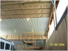 corrugated metal ceiling panels cute installing in pole barn of trim bes metal ceiling ideas family room industrial with corrugated