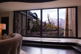Private Residence Lift and Slide Door with Mountain View by Marvin ...