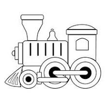 And kids love to color. Toy Train Outline Train Coloring Pages Train Clipart Train Crafts