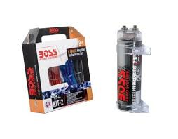 boss kit2 8 ga car amplifier wiring kit boss cap2cr 2 farad boss kit2 8 ga car amplifier wiring kit boss cap2cr 2 farad digital capacitor