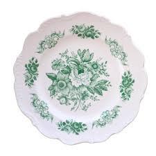 Floral Plate Design Floral Melamine Plates Green Courtland Co