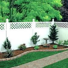 vinyl garden fences white fence freedom wellington semi privacy fencing ideas