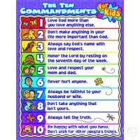 10 Commandments Chart Carson Dellosa Christian The Ten Commandments For Kids Chart