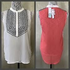 Ark And Co Size Chart Nwt Ark Co Stitch Fix Lucas Hi Lo Embroidered Sleeveless
