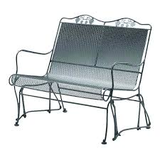best of patio glider bench and wrought iron patio furniture collection metal glider bench 78 patio