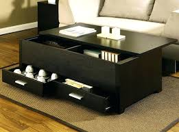coffee table storage black with drawers interior design blog pertaining to small decorations ottoman target
