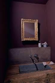 Aubergine looks great in powder rooms: your guests will be pleasantly  surprised with such uncommon colour choice.Actually eggplant is perfect for  decorating ...