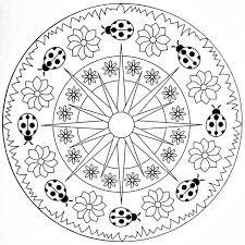 Coccinelle Sole E Fiori Primavera Mandala Alfabe Harfleri E